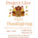 The Lauch of Project Give: Thanksgiving Day 2014